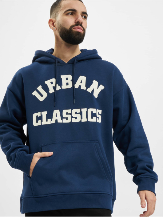 Urban Classics Hoodies College Print blå