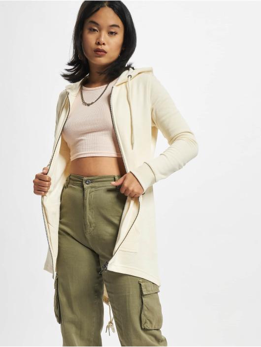 Urban Classics Hoodies con zip Ladies Sweat Parka beige