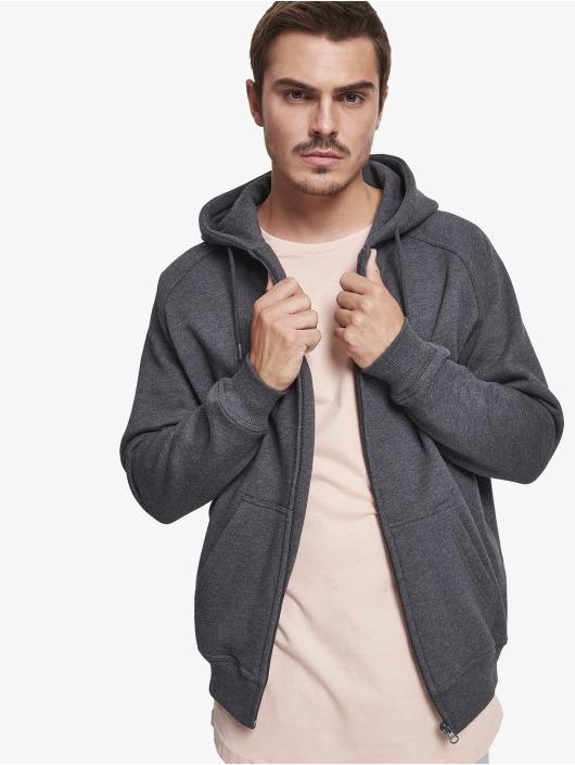 Urban Classics Hoodies con zip Blank grigio