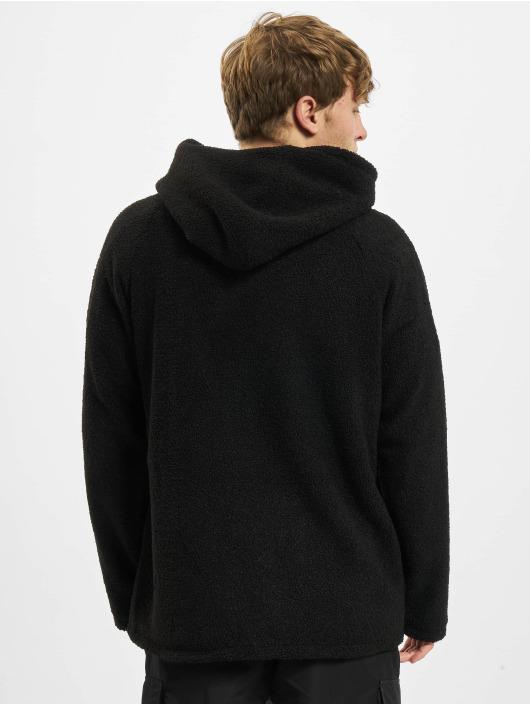 Urban Classics Hoodies con zip Hooded Sherpa nero