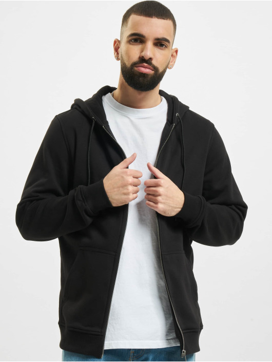 Urban Classics Hoodies con zip Basic Terry nero