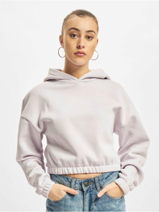 Urban Classics Hoodies Ladies Short Oversized fialový