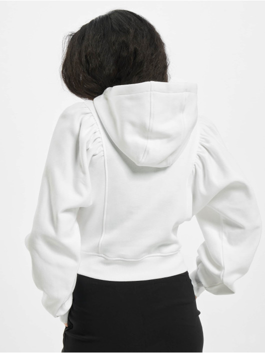 Urban Classics Hoodies Ladies Organic Gathering Batwing hvid