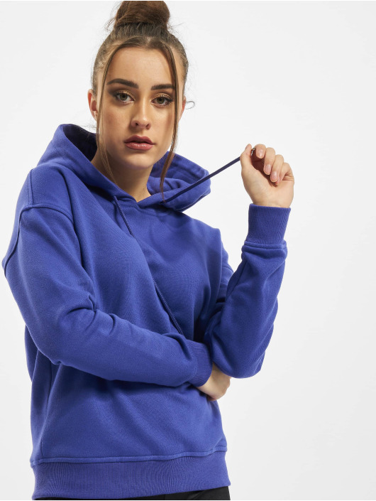 Urban Classics Hoodies Ladies modrý