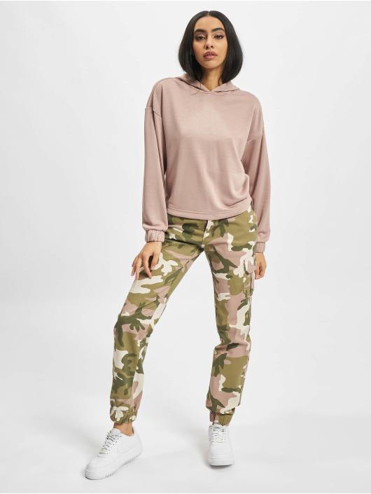 Urban Classics Hoodies Ladies Oversized Shaped Modal Terry růžový