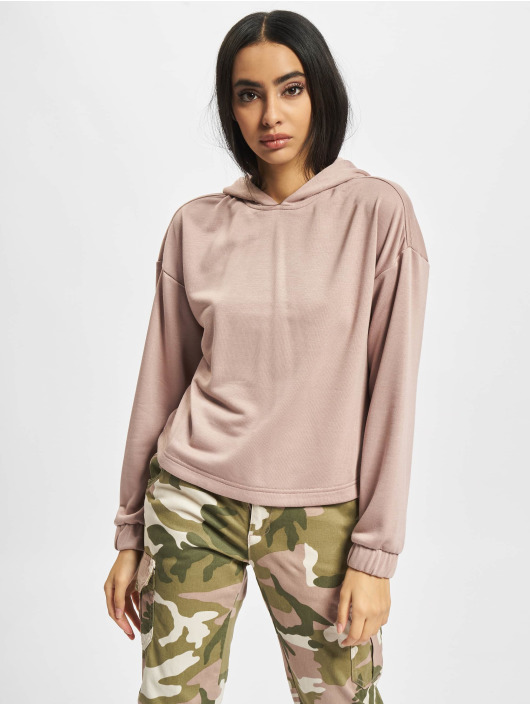 Urban Classics Hoodies Ladies Oversized Shaped Modal Terry rosa