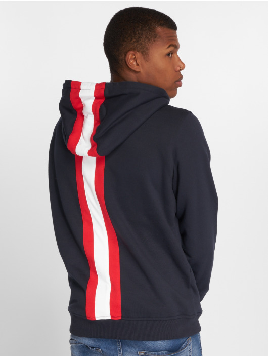 Urban Classics Hoody Back Stripe blau