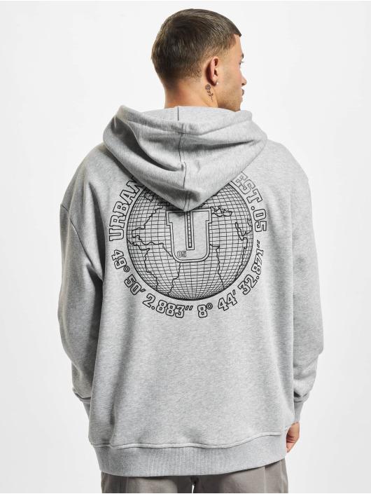 Urban Classics Hoody Globetrotter grijs
