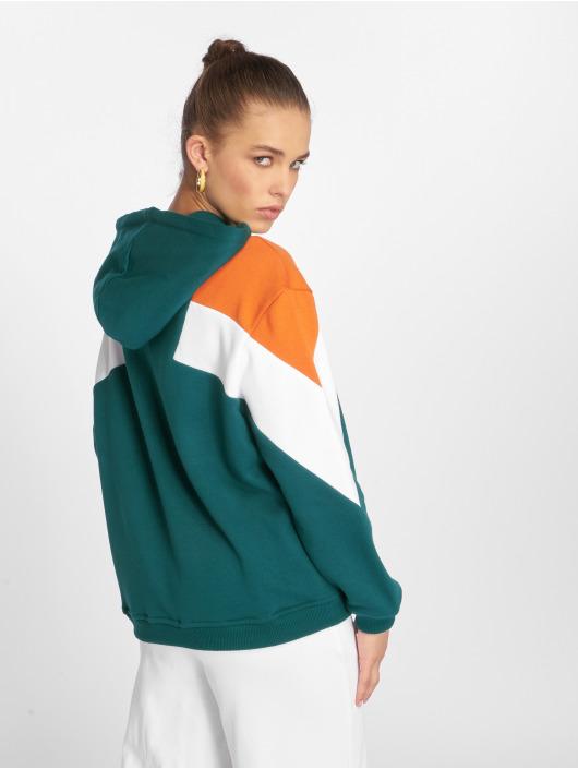 Urban Classics Hoody Oversize 3-Tone Block groen