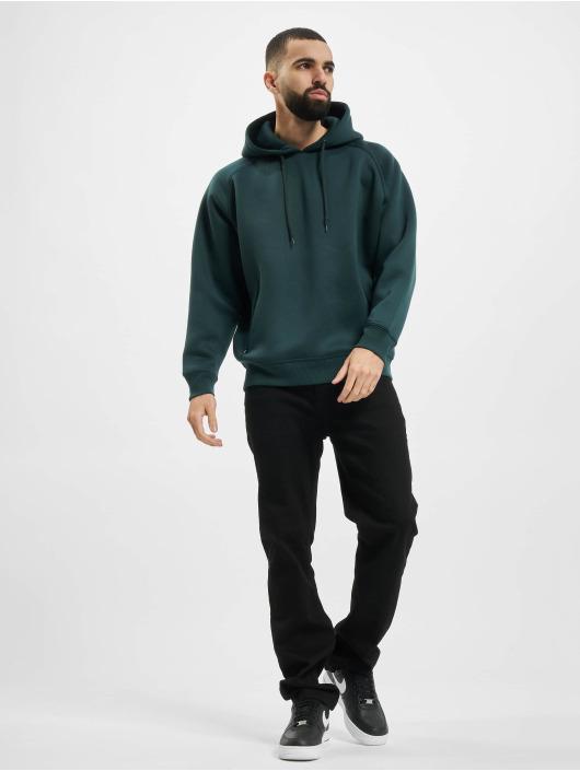 Urban Classics Hoody Raglan Zip Pocket groen