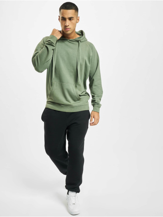 Urban Classics Hoody Garment Washed Terry olive