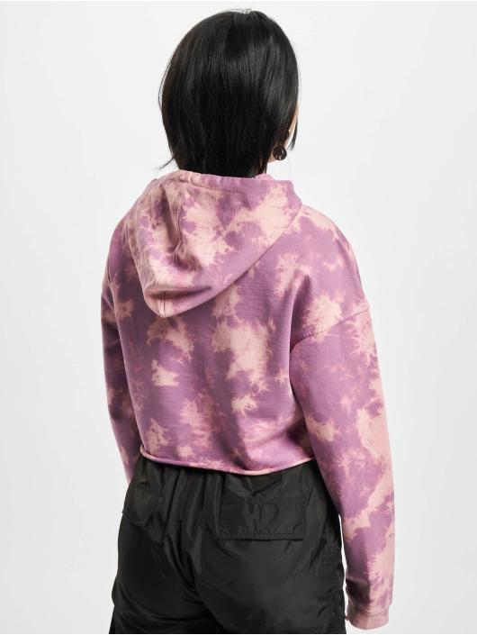 Urban Classics Hoody Ladies Oversized Short Bleached paars