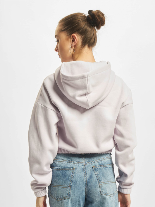 Urban Classics Hoody Ladies Short Oversized paars