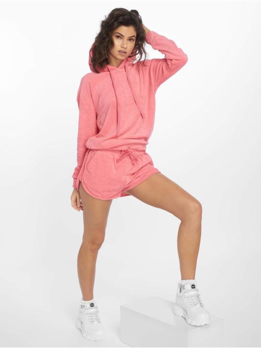 Urban Classics Hoody Towel pink