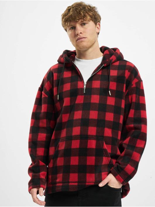 Urban Classics Hoody Patterned Polar Fleece rood
