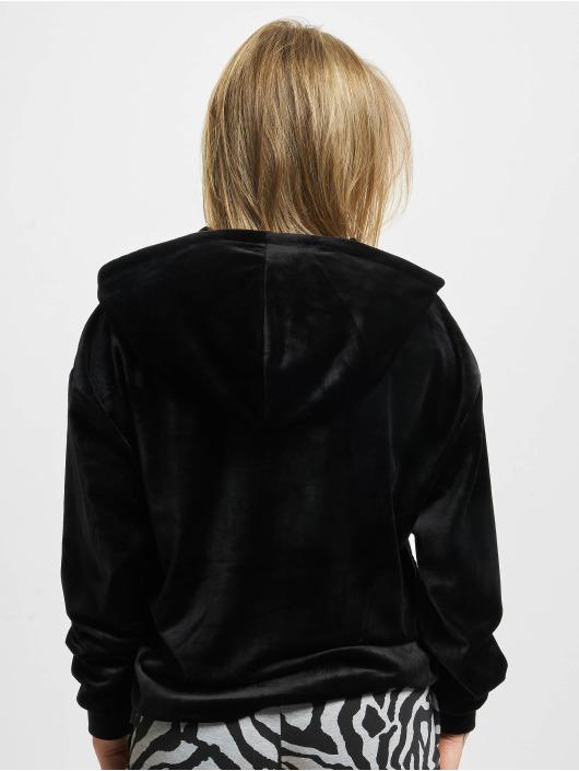 Urban Classics Hoody Short Velvet Gathered schwarz