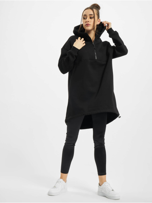 Urban Classics Hoody Ladies Long Oversized Pull Over schwarz