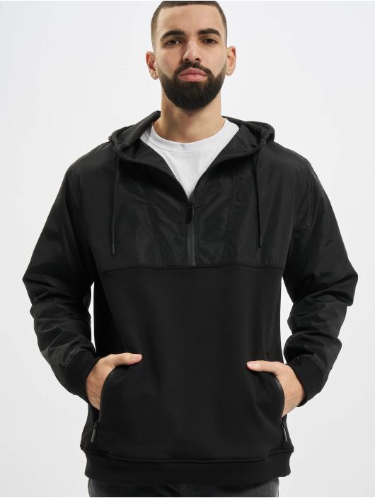 Urban Classics Hoody Military Half Zip schwarz