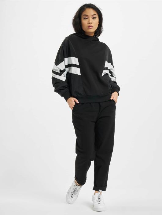 Urban Classics Hoody Ladies Mix Crinkle Nylon schwarz