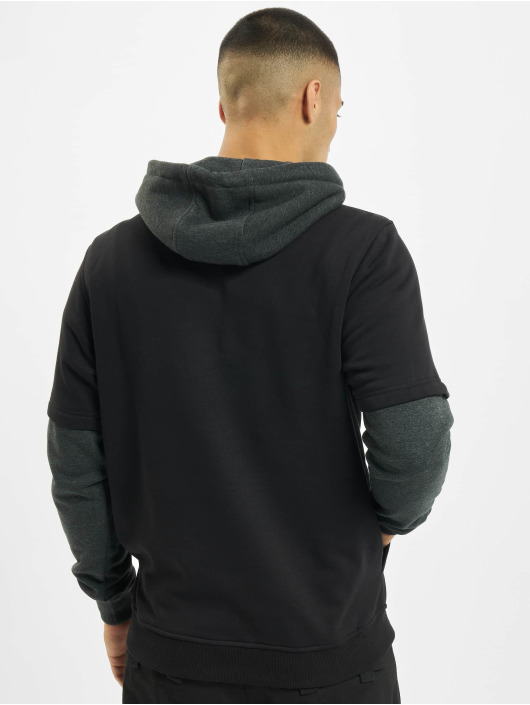 Urban Classics Hoody Double Layer zwart
