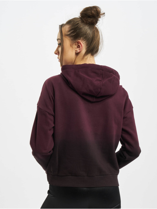 Urban Classics Hoody Ladies Dip Dye zwart