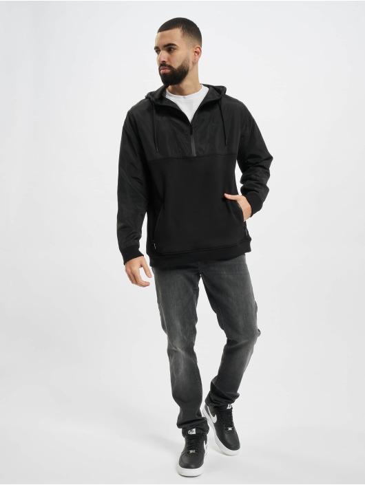 Urban Classics Hoody Military Half Zip zwart