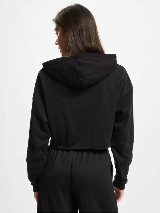 Urban Classics Hoody Ladies Oversized Cropped zwart