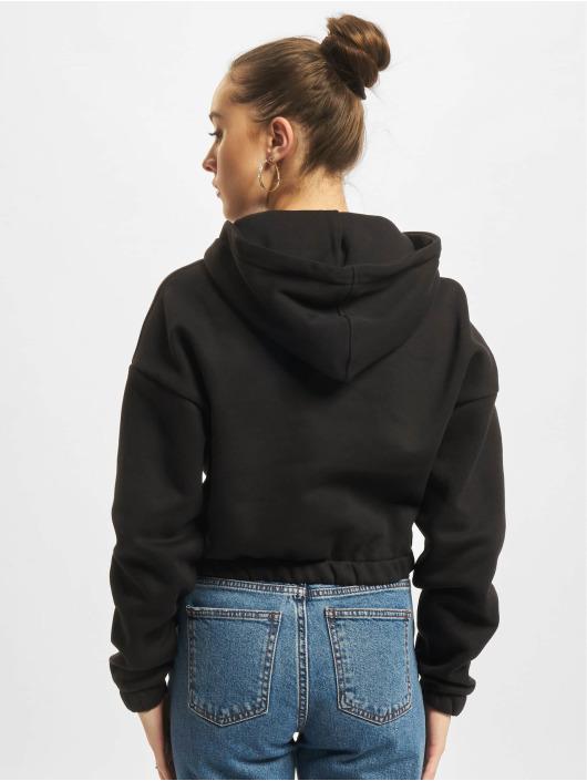 Urban Classics Hoody Ladies Short Oversized zwart