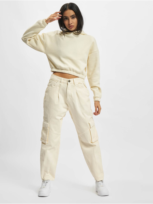 Urban Classics Hupparit Ladies Short Oversized Sweat beige
