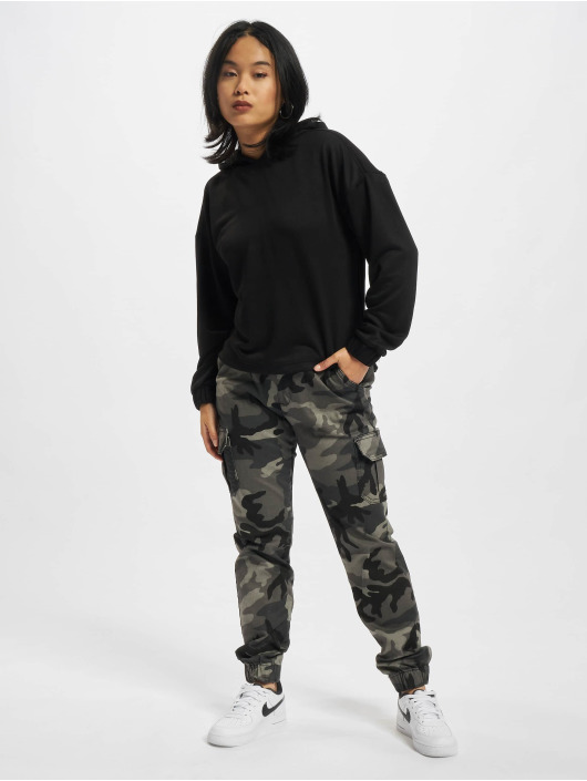 Urban Classics Hupparit Ladies Oversized Shaped Modal Terry musta