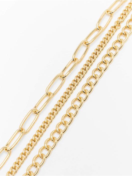 Urban Classics Iné Layering Chain Necklace zlatá