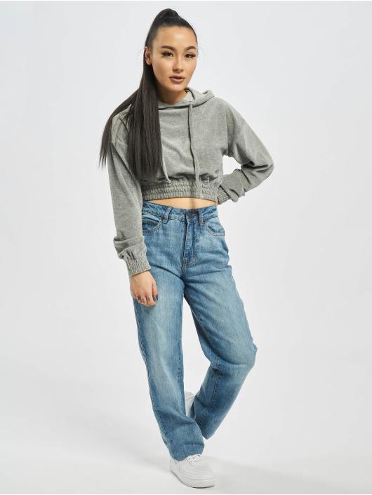 Urban Classics Jean coupe droite Ladies High Waist bleu
