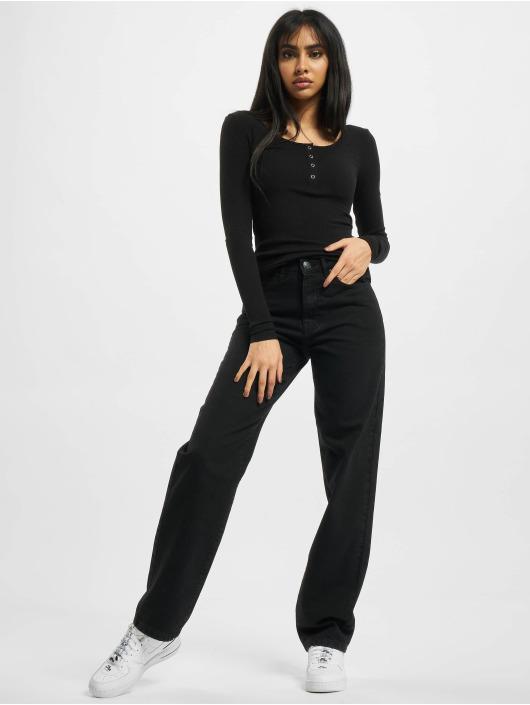 Urban Classics Jean coupe droite Ladies High Waist Straight noir