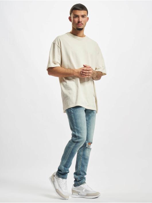 Urban Classics Jean slim Slim Fit Drawstring bleu