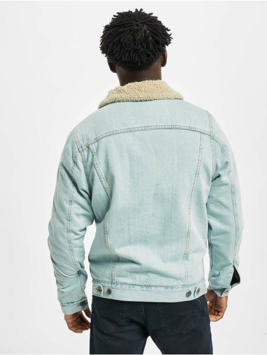 Urban Classics Jeansjacken Sherpa Lined Denim blau