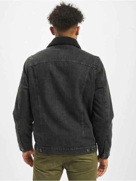 Urban Classics Jeansjacken Sherpa Lined Jeans schwarz