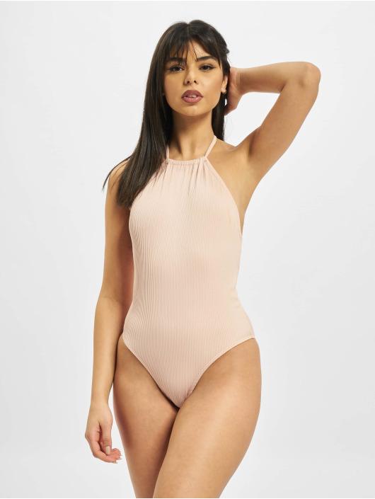 Urban Classics Jednodílné plavky Rib růžový