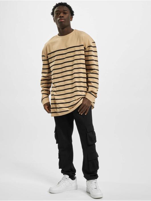 Urban Classics Jersey Color Block Stripe Boxy LS negro