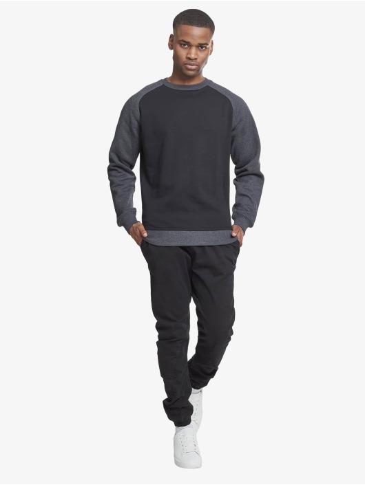 Urban Classics Jersey 2-Tone Raglan Crewneck negro