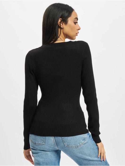 Urban Classics Jersey Ladies Wide Neckline negro