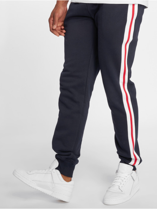 Urban Classics Joggebukser 3-Tone Side Stripe Terry blå