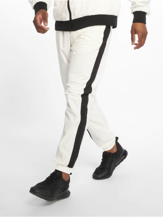 Urban Classics Joggebukser Side Striped Crinkle hvit