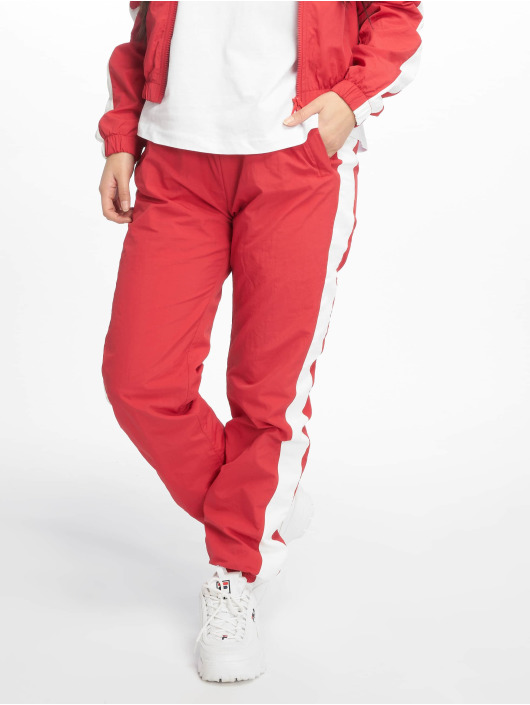 Urban Classics Joggebukser Striped Crinkle red