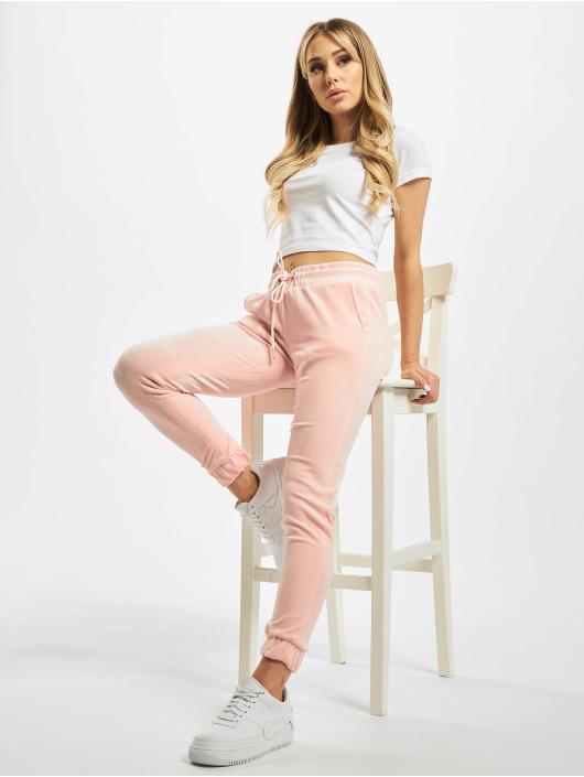 Urban Classics Joggebukser Velvet rosa
