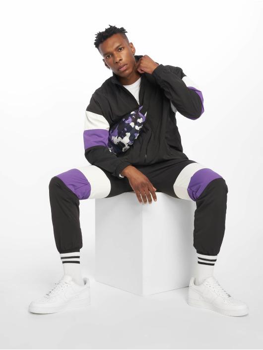 Urban Classics Joggebukser 3-Tone Crinkle svart