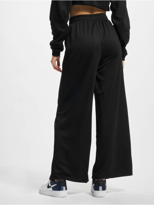 Urban Classics Joggebukser Ladies Modal Terry Wide Leg svart