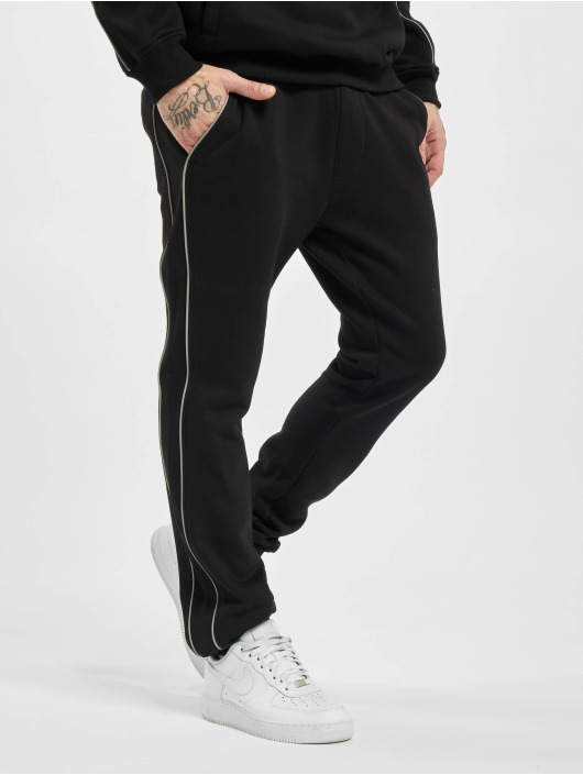Urban Classics Jogging kalhoty Reflective čern
