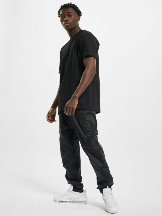 Urban Classics Jogging kalhoty Jacquard čern