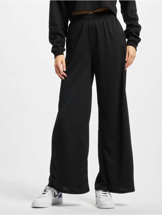 Urban Classics Jogging kalhoty Ladies Modal Terry Wide Leg čern