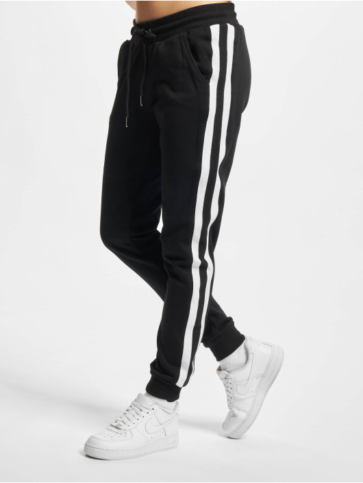 Urban Classics Jogging kalhoty Ladies College Contrast čern